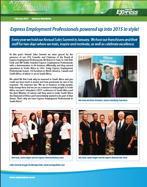 Corporate Events newsletter